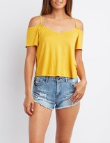 Charlotte Russe Cold Shoulder Swing Top
