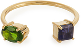 Ileana Makri Diopside, Iolite & yellow-gold ring