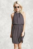 Forever 21 Satin Back-Slit Mini Dress