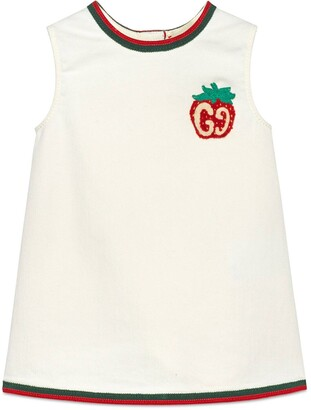 Gucci Children's cotton dress with strawberry patch