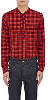 Gucci Men's Cambridge Checked Cotton-Blend Shirt-RED, NO COLOR