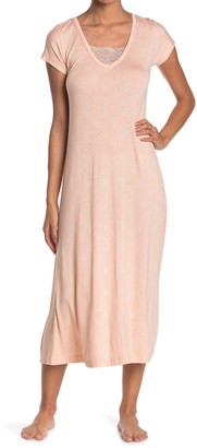 Kathy Ireland Lace Trimmed Nightgown