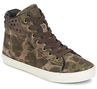 Geox KIWI GIRL girls's Shoes (High-top Trainers) in Green