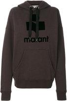 Etoile Isabel Marant logo print hoodie - women - Cotton/Polyester - 36