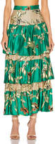 Alexis Honoka Skirt in Jade Green Orchid   FWRD