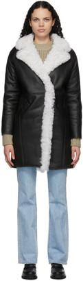 Yves Salomon Meteo Yves Salomon - Meteo Black and White Shearling Lambskin Coat