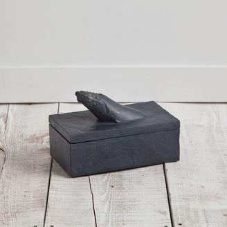 Mercana Home Barret II Black Resin Small Decorative Box
