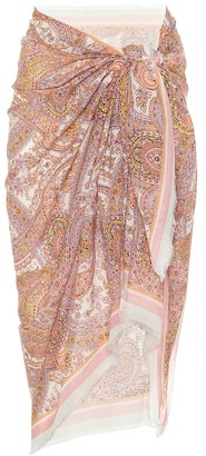 Zimmermann Exclusive to Mytheresa Paisley cotton sarong