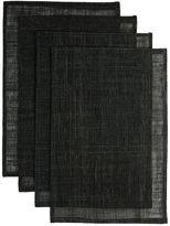 L&M Home Rami Placemat, Black (Set of 4)