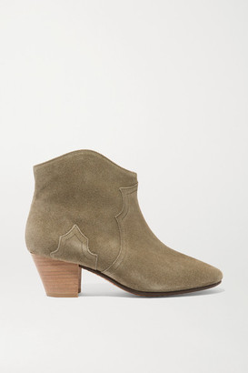 Isabel Marant Etoile The Dicker Suede Ankle Boots - Beige