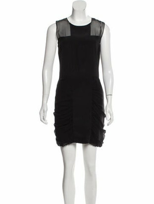 Nomia Silk Mini Dress Black