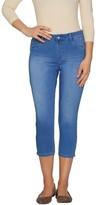Laurie Felt Silky Denim Capri Pull-On Jeans with Zip Detail