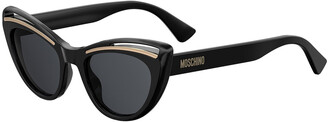 Moschino Cutout Cat-Eye Acetate Sunglasses