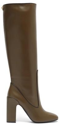 Fabrizio Viti Farrah Knee-high Leather Boots - Khaki
