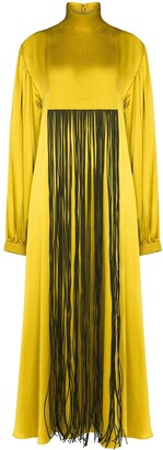 Roksanda Fringe Detail Front Silk Dress