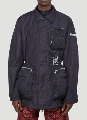 Marine Serre Pocket Detail Zipped Jacket