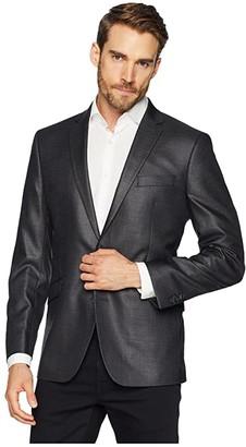 Kenneth Cole Reaction Techni-Cole Stretch Suit Separate Blazer (Gunmetal Basket Weave) Men's Jacket