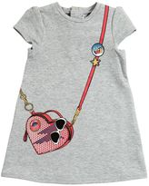 Little Marc Jacobs Bag Print Light Sweatshirt Dress