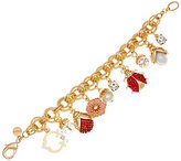 C. Wonder As Is Crystal & Enamel Ladybug Charm Bracelet