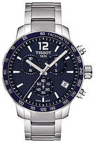 Tissot T0954171104700 Quickster Chronograph Date Bracelet Strap Watch, Silver/navy