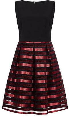 Ariella London Ariella Maeve Metallic Stripe Dress