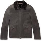 Ermenegildo Zegna Shearling Bomber Jacket