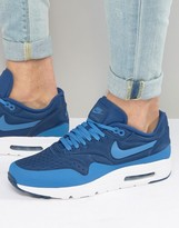 Nike Air Max 1 Ultra Trainers In Blue 845038-400