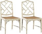 One Kings Lane Charlotte Ivory Side Chairs, Pair