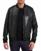 Robert Graham Romulus Leather Bomber Jacket