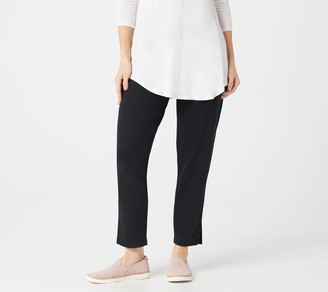 Logo by Lori Goldstein LOGO Lounge by Lori Goldstein French Terry Straight Leg Pull-On Pants