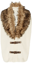 MICHAEL Michael Kors Faux fur-trimmed convertible cotton-blend gilet