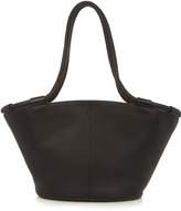 The Row Market braided-handle grained-leather tote