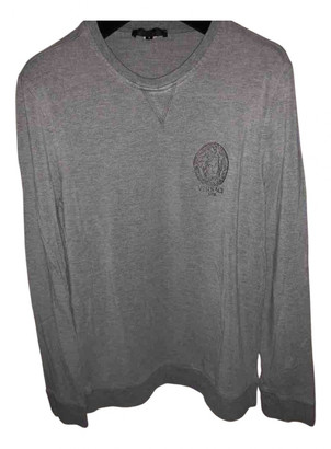 Versace Grey Cotton Knitwear & Sweatshirts