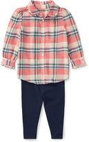 Ralph Lauren Girl Plaid Shirt & Legging Set