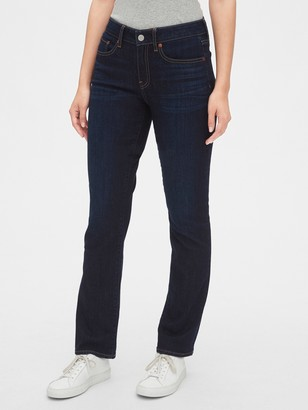 Gap Mid Rise Curvy Classic Straight Jeans