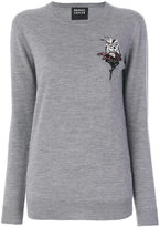 Markus Lupfer embroidery and sequin polar sweatshirt