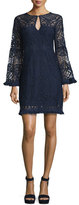 Nanette Lepore Lace A-line Dress with Fringe Trim