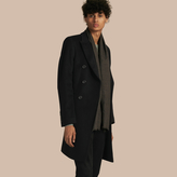 Burberry Double-breasted Wool Cashmere Tailored Coat