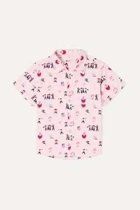 Thorsun Kids - Georgie Printed Cotton-poplin Shirt - Pink