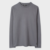Paul Smith Men's Grey Raw-Edge Loopback-Cotton Sweatshirt