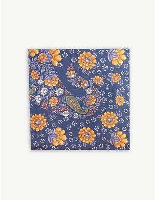 Eton Floral paisley silk pocket square