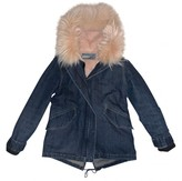 Yves Salomon Blue Fur Coat for Women