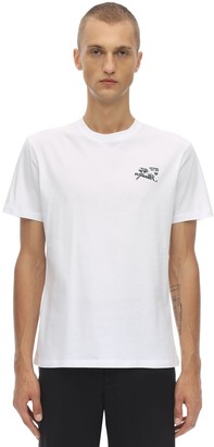 Raf Simons EMBROIDERED COTTON JERSEY T-SHIRT