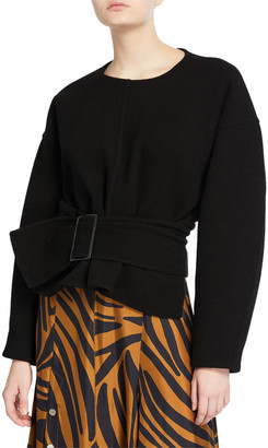 3.1 Phillip Lim Long-Sleeve Pullover with Belt