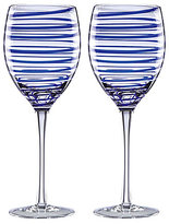 Kate Spade Charlotte Street Spiral Wine Glass Pair