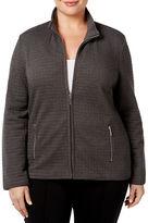 Karen Scott Plus Quilted Jacket