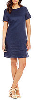 Preston & York Juliette Linen Short Sleeve Shift Dress