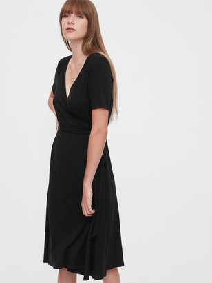 Gap Front Wrap Midi Dress