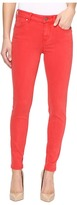 "Liverpool Piper ""Hugger"" Ankle Skinny with Lift and Shape in Pigment Dyed Slub Stretch Twill in Ribbon Red"