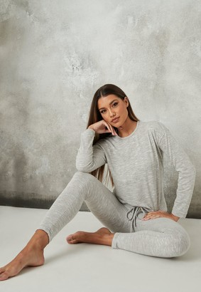 Missguided Grey Soft Knit Loungewear Set